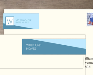 Modern Two Toned Diagonal Address Label