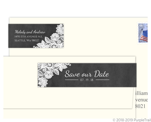 chalkboard and white lace save our date address label address labels