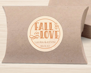 Autumn Fall In Love Favor Label
