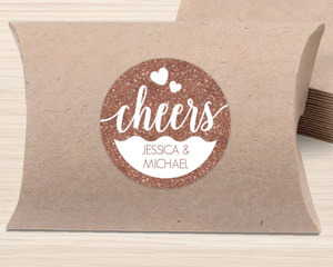 Love Cheers Favor Label