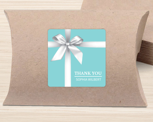 Elegant Blue Gift Bridal Shower Favor Label