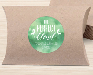Watercolor Perfect Blend Favor Label