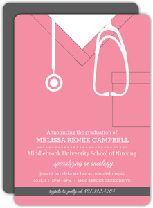 619b2a3c3a8 No Photo Nursing School Graduation Invitations | PurpleTrail