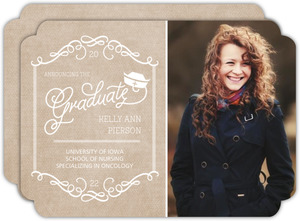 Kraft Whimsy Frame Nursing Graduation Announcement