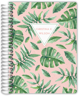Delicate Watercolor Greens Monthly Planner