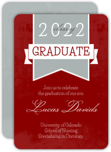 Red Nursing School Grad Invite