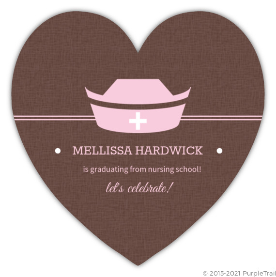 Pink And Brown Nurse Grad Party Invite