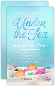 Whimsical Under the Sea Prom Ticket
