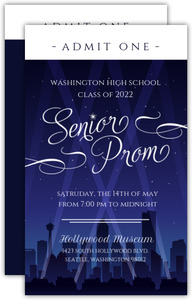 Hollywood City Night Prom Ticket