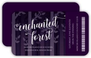 Whimsical Enchanted Forest Prom Ticket