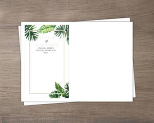 Tropical Green Leaves Custom Envelope