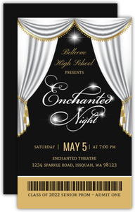 Beautiful Diamond White Enchanted Prom Ticket