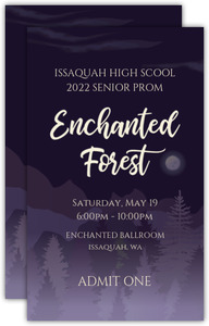 Midnight Purple Forest Prom Ticket