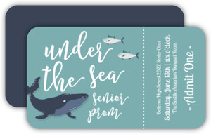 Blue Whale Under The Sea Prom Ticket