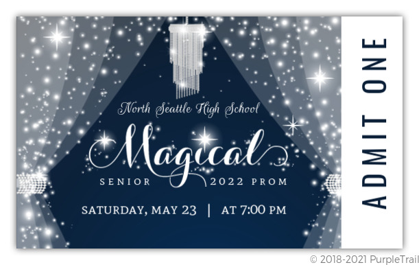 magical night crystal prom ticket prom invitations