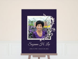 Simple Square Frame Memorial Poster