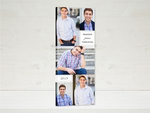 Simple Box Collage Graduate Canvas Print
