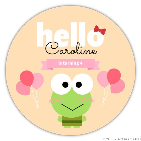 Hello cute frog birthday party invitation kids birthday invitations hello cute frog birthday party invitation filmwisefo