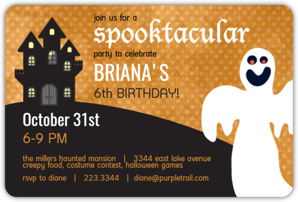 Halloween birthday party invitations halloween birthday invitations bookmarktalkfo Image collections