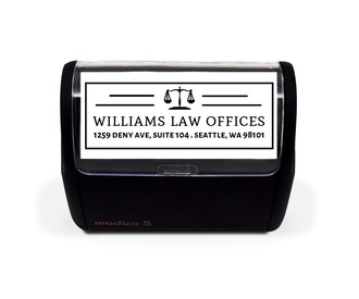 Simple Law Office Custom Stamp