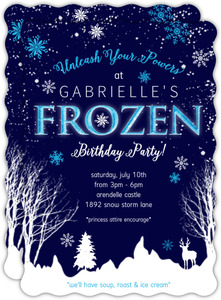 Frozen Winter Storm Kids Birthday Invitation