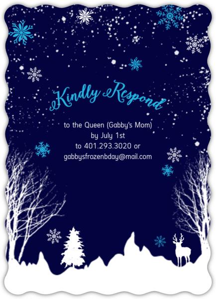 Frozen Winter Storm Kids Birthday Invitation