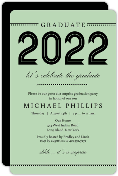 Varsity Blue Graduation Invitation