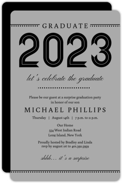 Varsity Blue Graduation Invitation