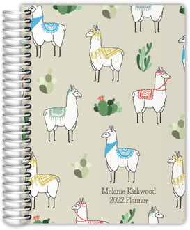 Decorative Llama Pattern Teacher Planner