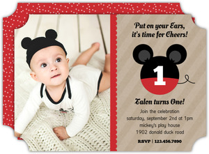 Krafty Ears Mickey Mouse Birthday Invitation