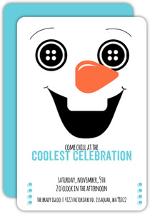 Happy Snowman Kids Birthday Invitation