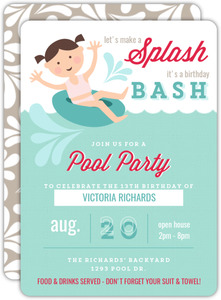 Pool Party Invitation | Pool Party Invitations Purpletrail