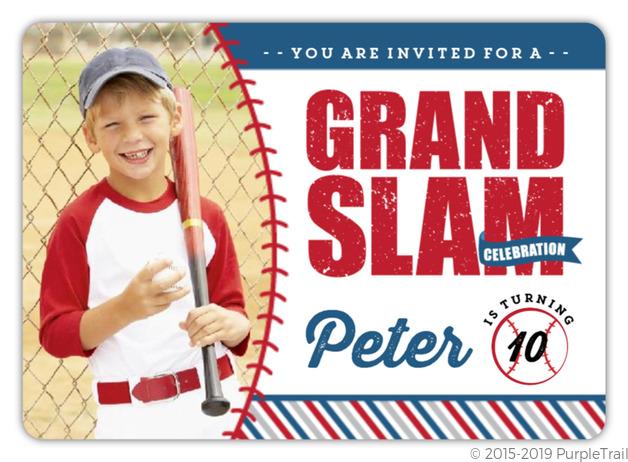 Rustic Fun Photo Baseball Birthday Party Invitation