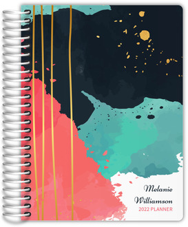 Turquoise Artistic Paint Daily Planner