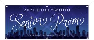 Hollywood City Night Printable Prom Banner