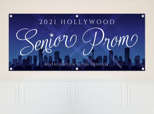 Hollywood City Night Prom Banner