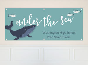 Blue Whale Under The Sea Prom Banner