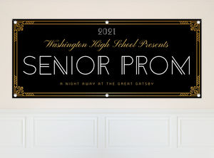 Golden Great Gatsby High School Prom Banner