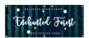 Glowing Enchanted Forest Prom Banner