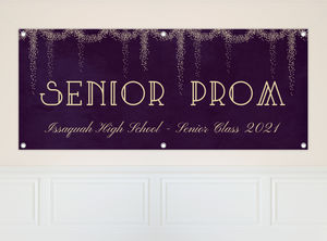 Fancy Starburst Lights Prom Banner