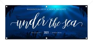 Deep Under the Sea Printable Prom Banner