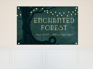 Enchanted Forest Prom Banner