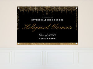 Old Hollywood Glam Prom Banner