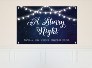 Decorative Lights Prom Banner