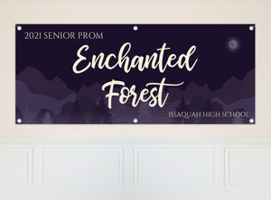 Midnight Purple Forest Prom Banner