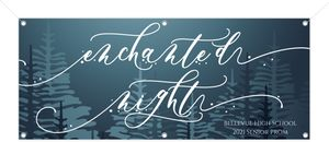 Glowing Moon Enchanted Night Prom Banner