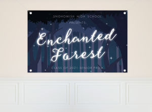 Midnight Enchanted Forest Prom Banner