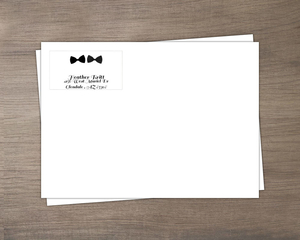 Double Bow Tie Custom Envelope