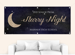 Starry Night Prom Banner