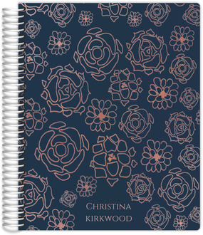 Faux Rose Gold Floral Pattern Mom/Parent Planner